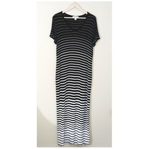 Michael Kors // Black & White Stripe Ombre Maxi